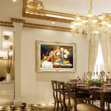 European restaurant oil painting fruit painting light luxury dining room decoration painting flower simple European restaurant wall still life mural
