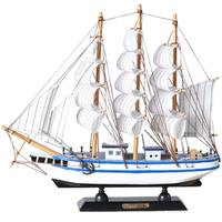 Sail sailing model decoration creative boat model living room room craft pirate wooden boat ornament display small