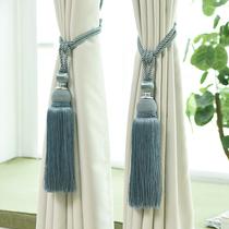 现代简约窗帘绑带窗帘绑绳挂球流苏挂钩墙钩欧式窗帘绑带窗帘扣