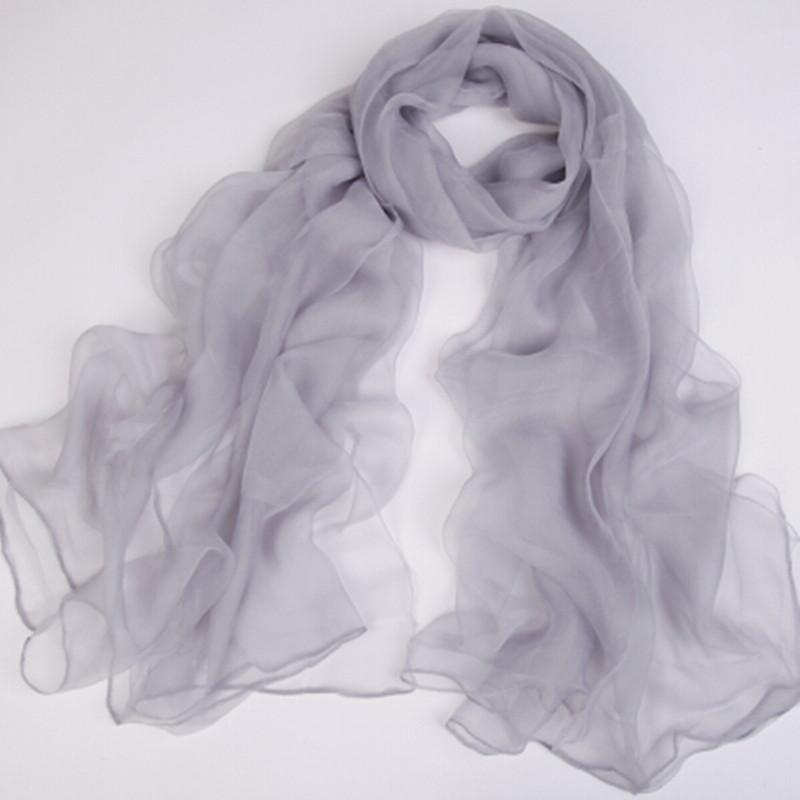 纯色超薄丝巾女春夏季仿真丝透明披肩超大百搭围巾冰丝雪纺沙滩巾