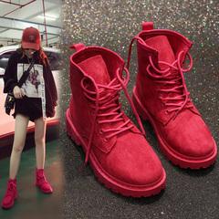 女式系带短靴