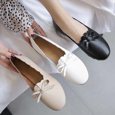 学生蝴蝶结平底鞋