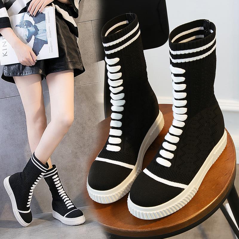 内增高少女靴