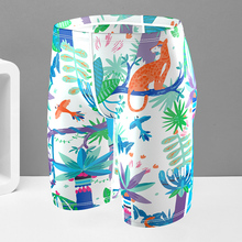 Flying fish swimming trunks, swimming pants, men's long five points, professional hot spring sports, big size swimsuit, adult fast drying swimsuit racing.