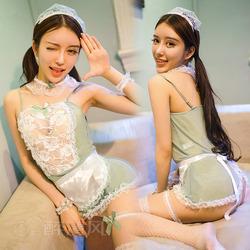 情趣内衣极度诱惑骚性感女仆装制服透明女佣服真人套装蕾丝睡衣