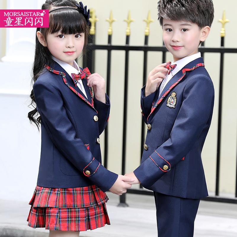 童星闪闪男童钢琴小礼服演出服女童西装外套装儿童伴郎服男孩婚礼