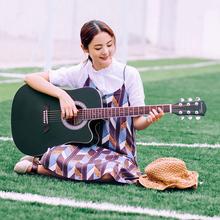 个性原木色民谣初学者41寸38寸缺角女古典弹唱玫瑰木六弦学生吉他