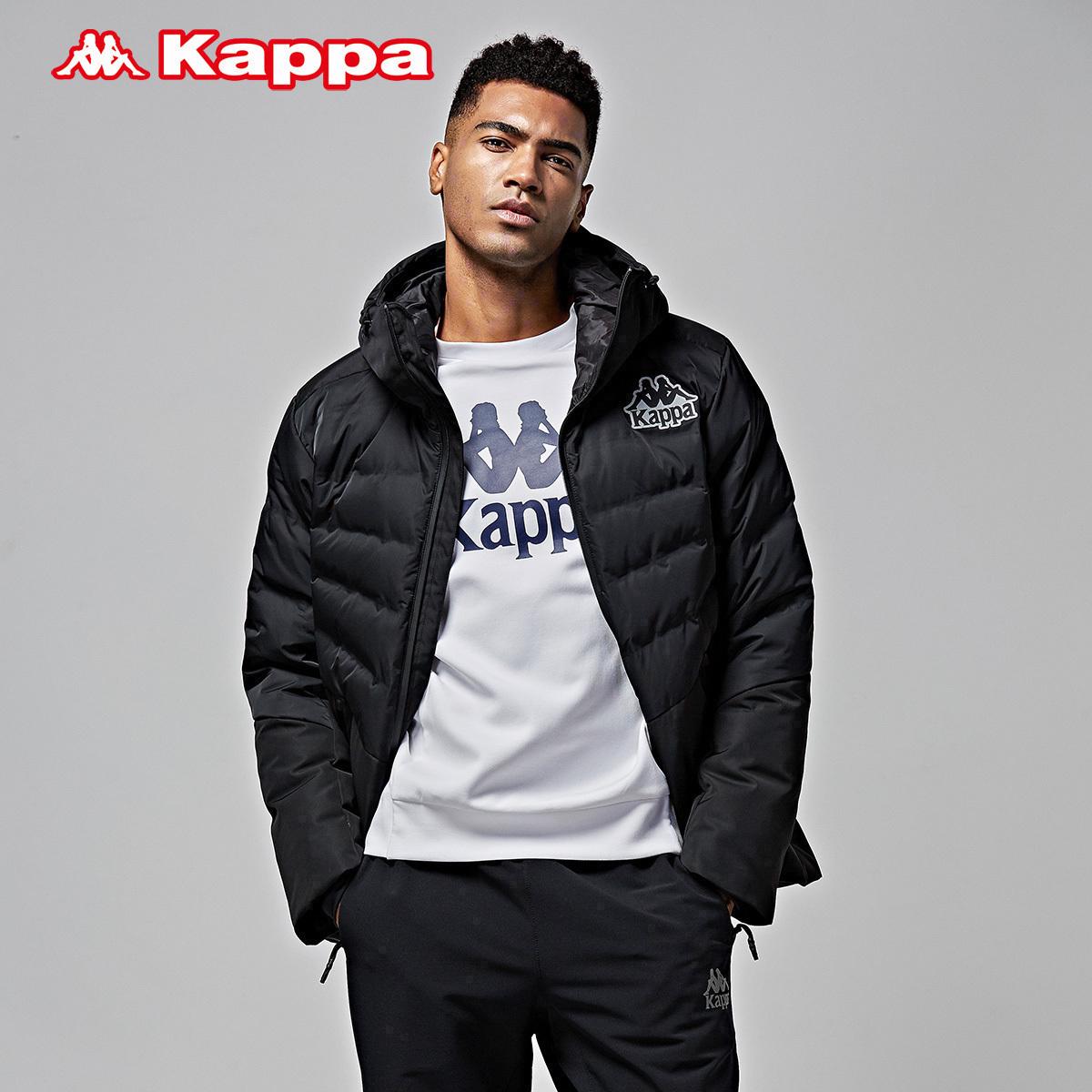 背靠背Kappa卡帕男款羽绒服运动休闲加厚保暖外套 秋冬 K0752YY31