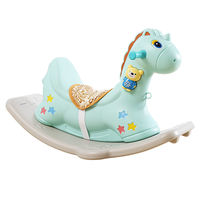 Trojan horse rocking horse toy baby rocking horse plastic large dual-use 1-2-6 years old with music riding car