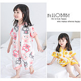 Children's Pyjamas and Girls'Sleeping Bags with Sleeping Bags in Summer Thin Uniform Clothes Air-conditioning Clothes 1-3 Years Old Pure Cotton 4 Babies' Home Clothes