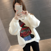 Autumn and winter 2018 new high collar is very fairy shirt sweater female lazy windy wild loose net red bottoming shirt