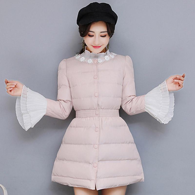 韩版雪纺修身棉衣