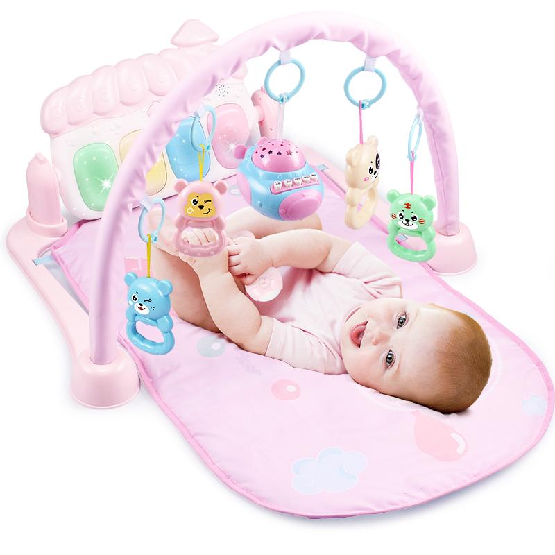 婴儿脚踏钢琴健身架器0-1岁新生儿3-6-12个月宝宝男女孩音乐玩具