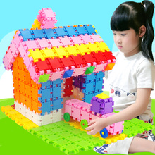 6周岁4岁拼插女孩男孩方块数字积木 幼儿园儿童益智拼装 小孩玩具3图片
