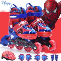 迪士尼轮滑鞋儿童溜冰鞋全闪套装3初学者旱冰鞋4男童5女童6-7-8岁