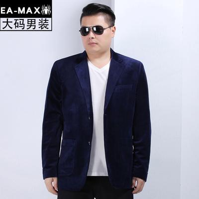 男士春秋新款金丝绒休闲肥加大码西服男装休闲男单西装薄外套X32