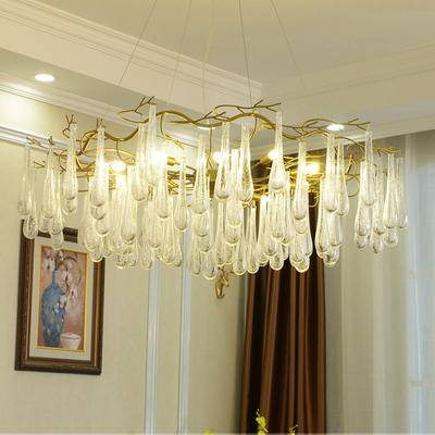 后现代吊灯客厅酒吧法式水晶艺术树杈树枝轻奢灯具餐厅美式水晶灯