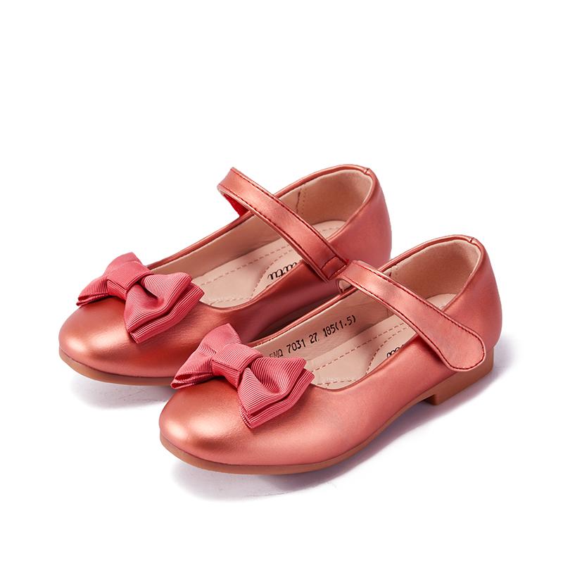 女童演出皮鞋洋气夏季2019新款豆豆小公主儿童软底时尚女孩单鞋子
