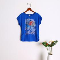L/2XL/3XL码庄园XN女装 2019夏季短袖T恤衫上衣1397多色E8