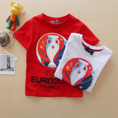 DSN旗下童装 夏季男童中小童短袖世界杯足球服T恤FA162 V A10