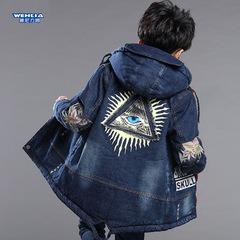 男童牛仔棉衣外套
