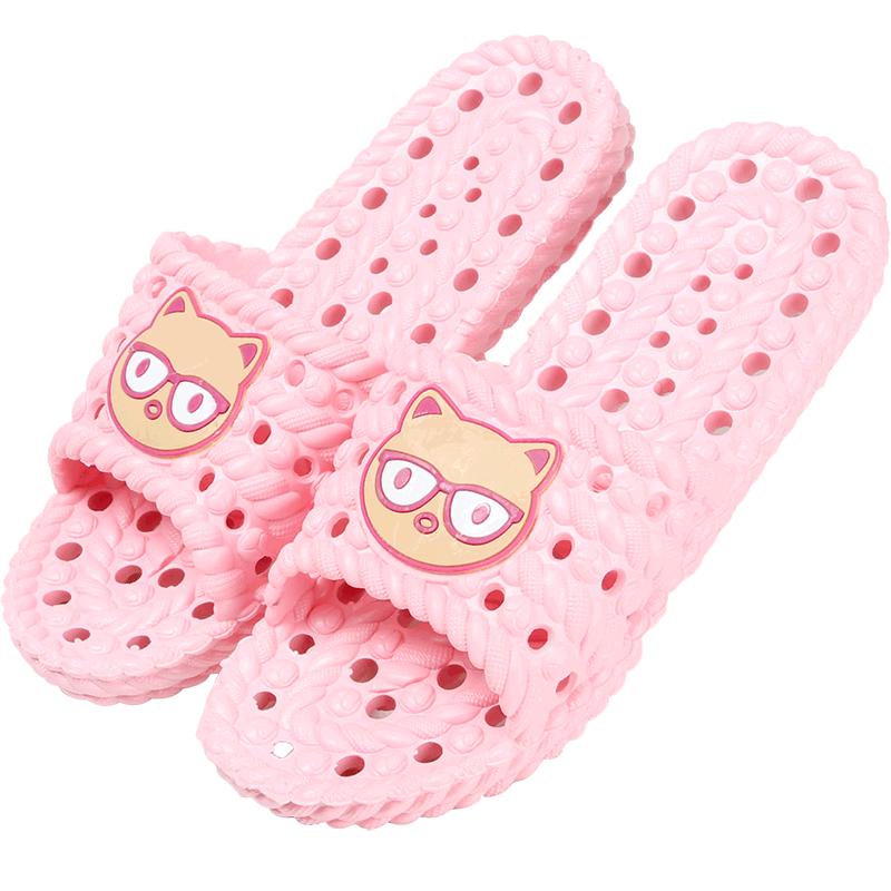 乐拖夏季卡通镂空浴室情侣拖鞋 居家防滑按摩沥水浴室洗澡拖鞋