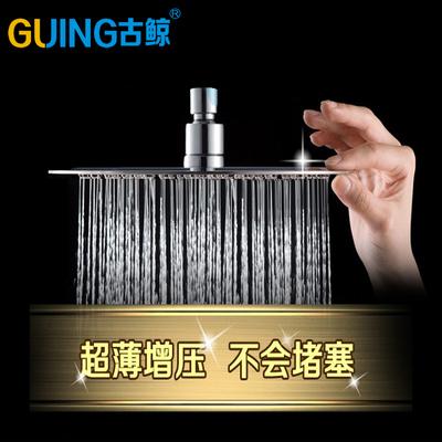 增压节水淋浴顶喷沐浴大花洒顶喷头不锈钢喷淋头升降杆淋浴管整套