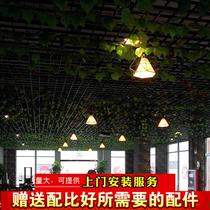 格栅吊顶铁格栅铝格栅天花装饰材料吊顶绿藤葡萄架子网格吊顶扣板