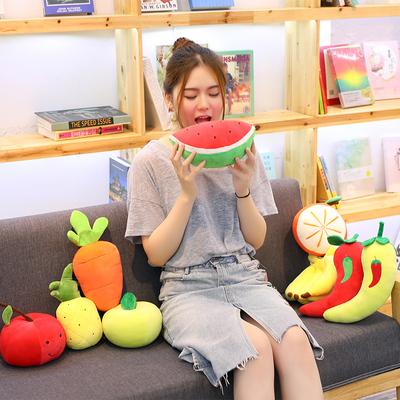 水果系列草莓香蕉橙子苹果西瓜胡萝卜樱桃毛绒玩具公仔玩偶送女友