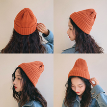 Knitted wool hat female Autumn Winter Korean edition hundred Casual Winter Sweet cute tide Korea ins man cold hat