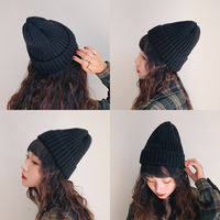 Knitted wool hat female autumn and winter Korean version of wild casual winter sweet and lovely tide Korean ins male cold hat