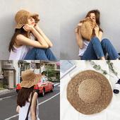 韩版可折叠沙滩大沿草帽女夏天百搭小清新海边夏度假防晒遮阳帽子