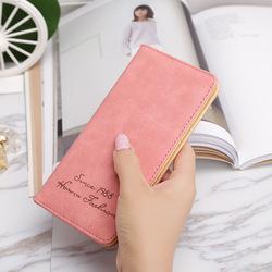 2018新款韩版长款女士钱包卡包超薄磨砂复古学生钱包