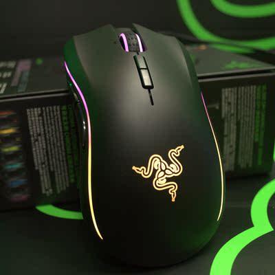 Razer雷蛇 Mamba曼巴眼镜蛇竞技版RGB幻彩5G有线守望先锋游戏鼠标