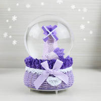 Crystal Ball Music Box Sky City Music Box Send Children and Girls Birthday Gift Girl Decoration 61 Children's Day