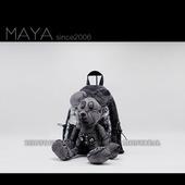 玛雅maya2019韩版米老鼠米奇公仔复古做旧牛仔布艺双肩包时尚女包