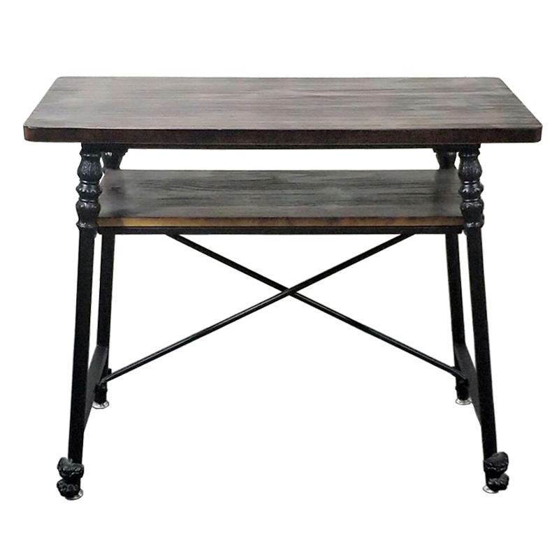 金色白色美甲桌椅子套装复古铁艺实木美甲店修甲工作台单双层三人