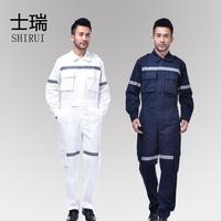 全棉连体服 船厂船员工作服 立体口袋带反光条 海员套装 可定做