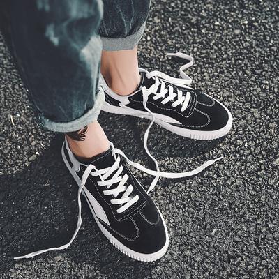 夏天休闲帆布鞋男韩版潮流学生透气鞋ins超火板鞋夏季百搭潮鞋子