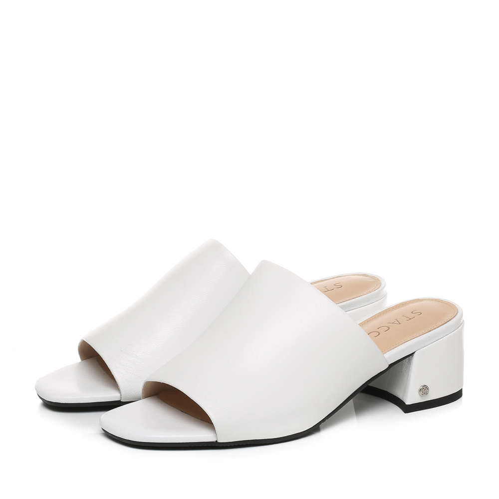 9F102BT7 思加图年夏季专柜同款时尚方跟女拖鞋 STACCATO 聚
