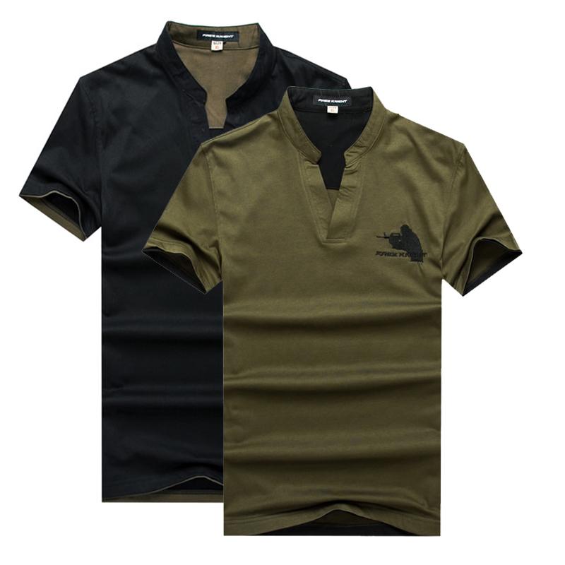 自由骑士夏装军绿男士polo衫 宽松纯棉 短袖t恤 立领T恤男潮3元优惠券