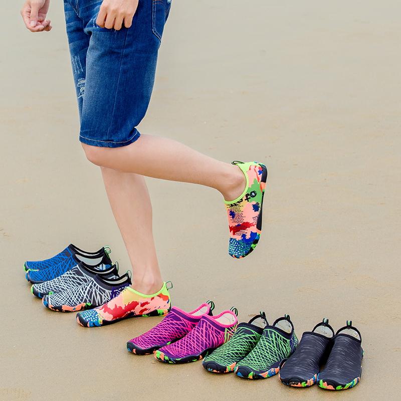 夏透气沙滩鞋溯溪鞋男女情侣软底涉潜水鞋游泳鞋防滑跑步机瑜伽鞋