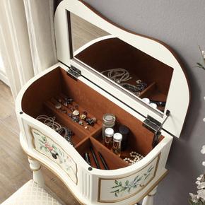 美式梳妆台实木卧室经济型小户型多功能迷你欧式化妆台桌子简易