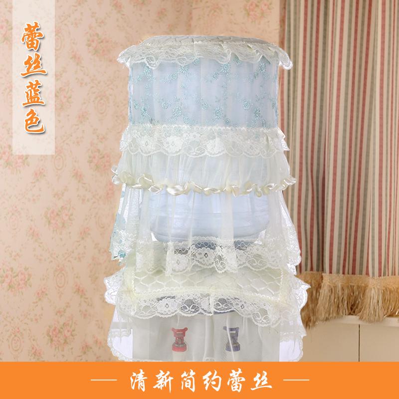 饮水机罩子布艺蕾丝两件套高档现代简约饮水机防尘罩盖巾水桶立式