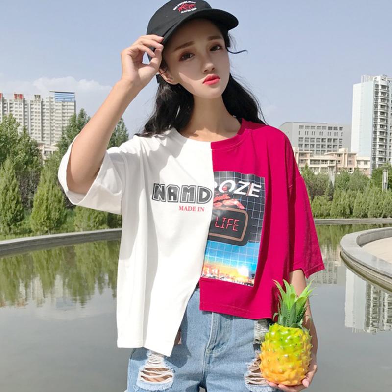 韩国ulzzang短款t恤