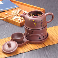 Hand-painted Kung Fu soup pot hotel clubhouse tea room purple sand teapot health pot steamed soup pot stew soup pot
