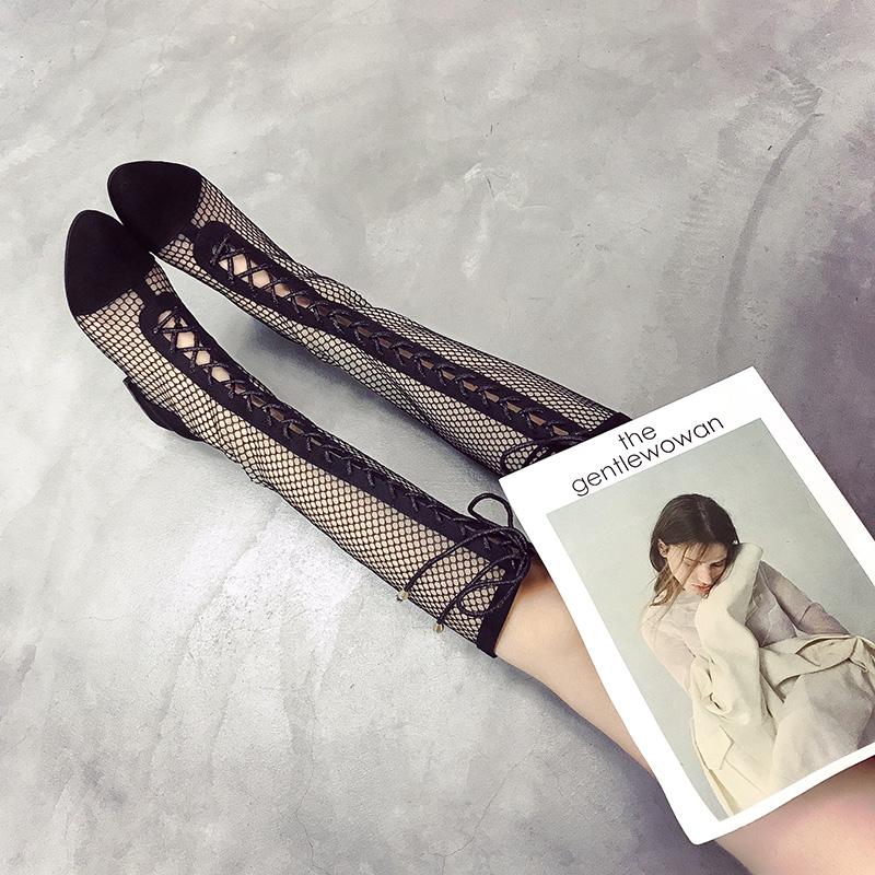 高筒凉鞋靴