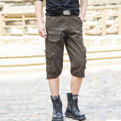 夏季户外运动工装短裤 男士军迷登山迷彩裤七分裤战术多兜短裤