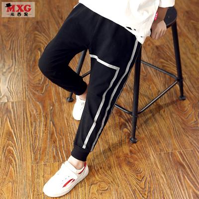 米西果男童裤子长裤2018新款儿童休闲裤大童童装运动裤春秋款潮装