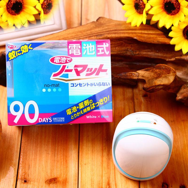 【日本进口】安速电池90晚驱蚊套装户外野营便携式电池驱蚊器